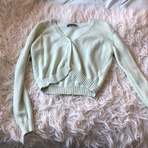 brandy melville green billie sweater